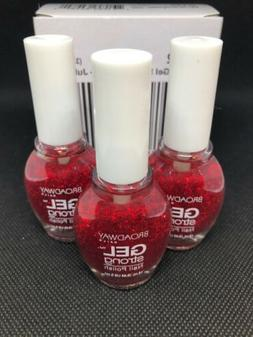 1 Case 288 pcs Broadway Gel Nail Polish Juliet Red Sparkle G