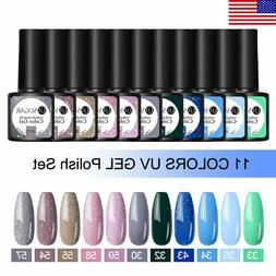 10 Bottles UR SUGAR UV Gel Set Nail Polish Holographics Top
