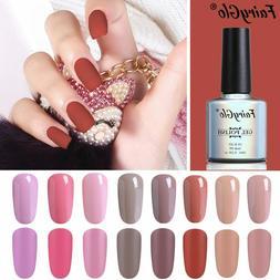 FairyGlo® 10ML Matt Top Coat Nude Purple Series Gel Nail Po