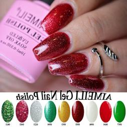 AIMEILI Nail Art Glitter Sparkle UV LED Gel Nail Polish Sequ