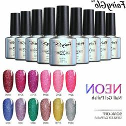 FairyGlo® 12pcs/lot Gel Polish Buffer File UV LED Neon Gel