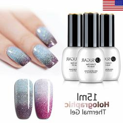 UR SUGAR 15ml Holographics Thermal UV Gel Polish Soak Off Co