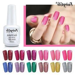 FairyGlo® 15ml Neon Glitter UV Gel Nail Polish Enamel Stamp