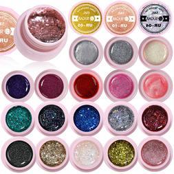 35 Colors UR SUGAR Glitter Gel Nail Polish Starry Silver Nai