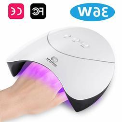 36W LED UV Nail Polish Dryer Lamp Acrylic Gel Curing Light S