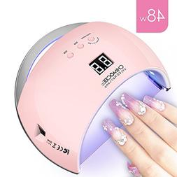 48W UV Led Nail Dryer, CHIMOCEE Smart Curing Lamp, Auto Sens