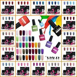 CLAVUZ 4PCS Colors Gel Polish + Gift Box Base Top Coat 8ml N