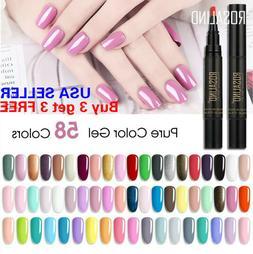 58 Colors One Step Nail Gel Polish Pen Manicure Soak Off Top