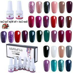 6Pcs Gel Nail Polish Set UV LED Soak Off Gel Nail Art Kit Pe