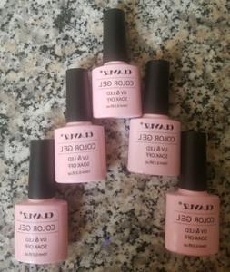 8 CLAVUZ Soak Off UV LED Gel Nail Polish Color Base Manicure