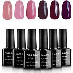 Gellen UV Gel Shiny Nail Polish Multi-color 10 ml Each