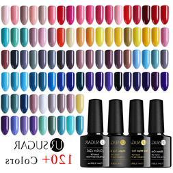 Nail Art UV Gel Polish Soak Off Top Base Coat Gel Multi-colo