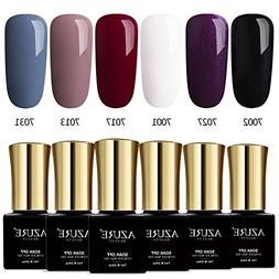 Azure Beauty Classic Gel Nail Polish Set, Elegant Colors Soa
