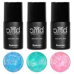 BMC Super Sweet 3pc Serendipity UV/LED Matte Glitter Pastel
