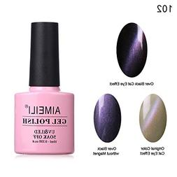 AIMEILI Cat Eye Gel Nail Polish Magnetic Soak Off UV LED Nai