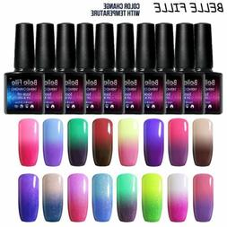 BELLE FILLE Chameleon Temperature Color Change Nail Gel Poli