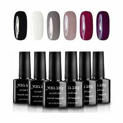 Gellen Classic Elegant Colors UV Gel Nail Polish Set, Pack o