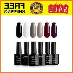 Classic Elegant Colors UV Gel Nail Polish Set, Pack of 6 Col