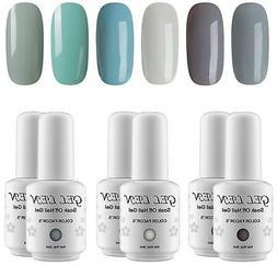 Gellen Cold Gray Green 6 Colors Gel Nail Polish UV LED Soak
