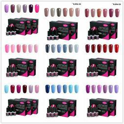 CLAVUZ Colors Gel Nail Polish 6PCS w/ Gift Box Set Manicure