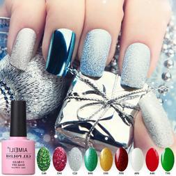 AIMEILI Diamond Bling Glitters UV LED Gel Polish Sparkle Nai