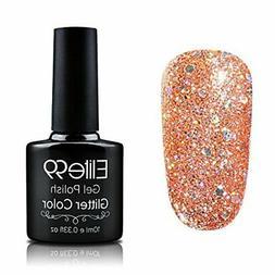 Elite99 Soak Off Gel Polish Glitter Colour Nail Art UV LED M