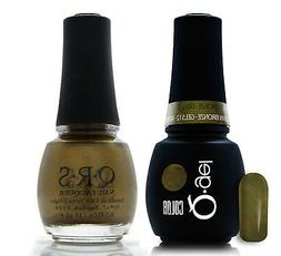 Gel & Polish QRS Beauty Combo MAT512 Autumn Bronze Green Pea