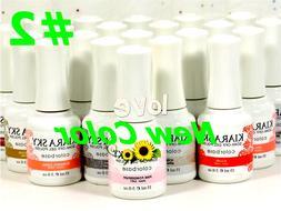 Kiara Sky Gel Color Base Top Coat Soak Off UV/LED 15ml/0.5oz