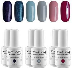 Gellen Fashion Gel Manicure Pure Shimmering 6 Colors - Soak
