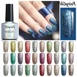 FairyGlo® Gel Nail 10ML Soak Off UV Nail Polish Starry Glit