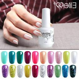 Elite99 Gel Nail Polish Base Top Coat Bling Colours Lacquer