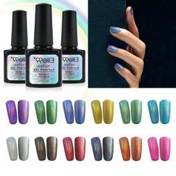 Elite99 Gel Nail Polish Holographic Rainbow Soak Off Base To