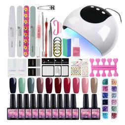 Coscelia Gel Nail Polish Kit 10 Colors Vanish UV LED Nail La