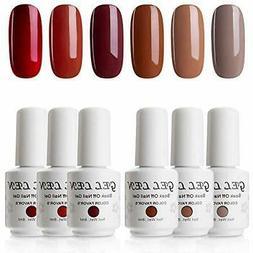 Gellen Gel Nail Polish Kit - Caramel Series Colors Trendy Br