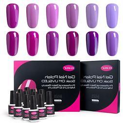 CLAVUZ Gel Nail Polish Kit Soak Off Gel Nail Lacquer Nail Ar