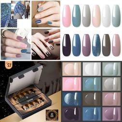 Gel Nail Polish Set - 12 Pcs 8Ml Each Gel Nail With Gift Box