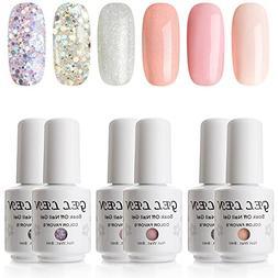 Gellen New Gel Nail Polish Set - Pack of 6 Colors , UV LED S