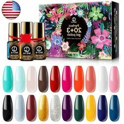 MEFA Gel Nail Polish Set 23 Pcs Gifts Box - Soak Off UV LED