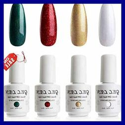 Gellen Gel Nail Polish Set 4 Colors Forest GREEN Flame RED S