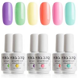 Gellen Gel Nail Polish Set - Bright Cute Neon 6 Colors Sweet