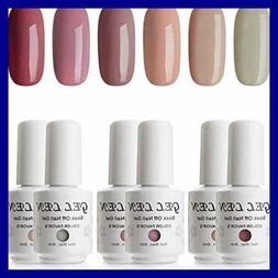 Gellen Gel Nail Polish Set Popular Nudes Series 6 Colors UV