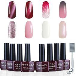 Gellen Gel Nail Polish Set - Various Pink Reds 8 Colors Colo