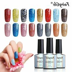 FairyGlo® Gel Nail Polish Soak Off 10ml Diamond Sequins Gli