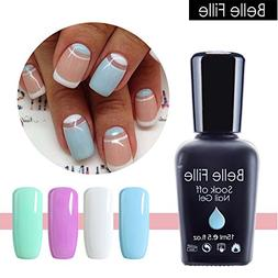 Belle Fille Gel Nail Polish 15ml Pure Color UV LED Nail Poli