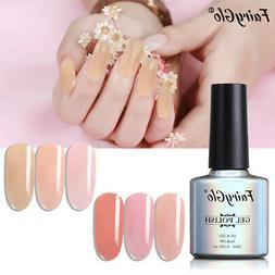 Gel Polish FairyGlo Soak Off UV LED Nude Jelly Gel Nail Poli