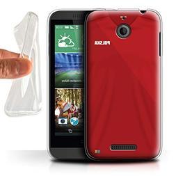 STUFF4 Gel TPU Phone Case/Cover for HTC Desire 510/Poland/Po