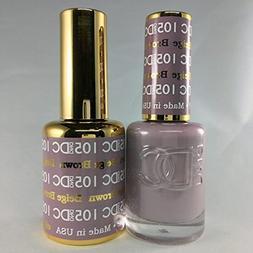 DND DC Duo Gel + Polish - 105 Beige Brown
