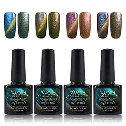 Elite99 Holographic Cat Eye Gel Nail Polish Set Soak Off UV