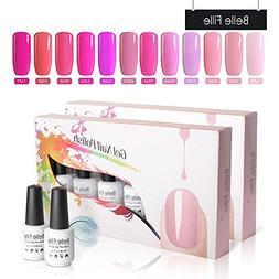 Belle Fille Hotpink Color Nail Polish UV LED Bright Pink Gra