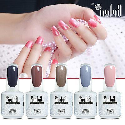 5 Colors Combo Belen 15ML Nail Art Gel Polish Foundation Sea
